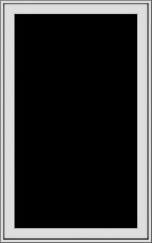 WDMA 30x48 (29.5 x 47.5 inch) uPVC Vinyl White push out Casement Window without Grids Exterior