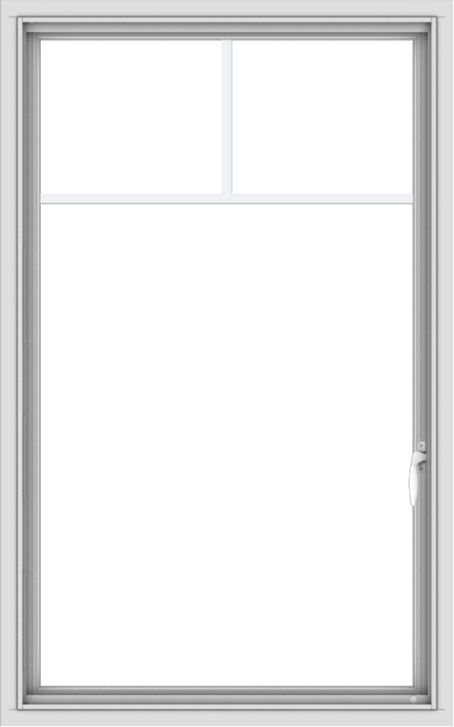 WDMA 30x48 (29.5 x 47.5 inch) uPVC Vinyl White push out Casement Window with Fractional Grilles