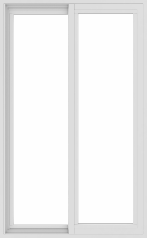 WDMA 30x48 (29.5 x 47.5 inch) Vinyl uPVC White Slide Window without Grids Exterior