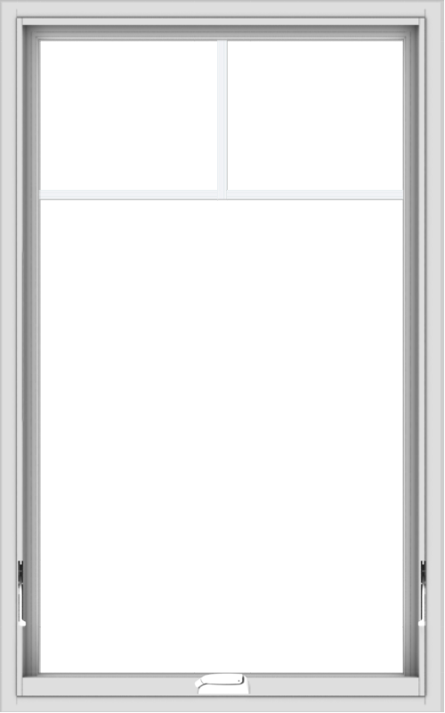 WDMA 30x48 (29.5 x 47.5 inch) White Vinyl uPVC Crank out Awning Window with Fractional Grilles
