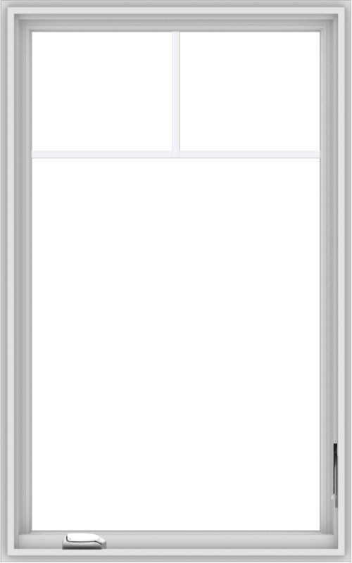 WDMA 30x48 (29.5 x 47.5 inch) White Vinyl uPVC Crank out Casement Window with Fractional Grilles