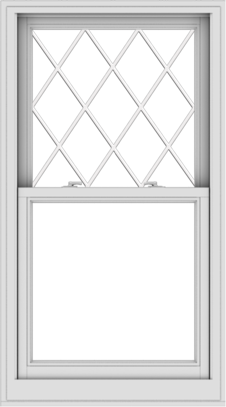 WDMA 30x54 (29.5 x 53.5 inch)  Aluminum Single Double Hung Window with Diamond Grids