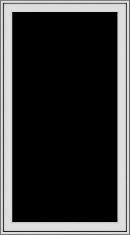 WDMA 30x54 (29.5 x 53.5 inch) uPVC Vinyl White push out Casement Window without Grids Exterior