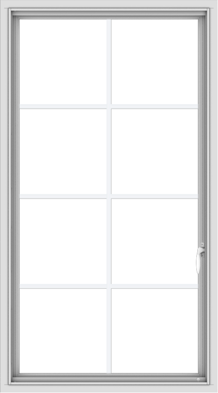 WDMA 30x54 (29.5 x 53.5 inch) uPVC Vinyl White push out Casement Window with Colonial Grids