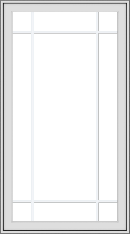 WDMA 30x54 (29.5 x 53.5 inch) uPVC Vinyl White push out Casement Window with Prairie Grilles