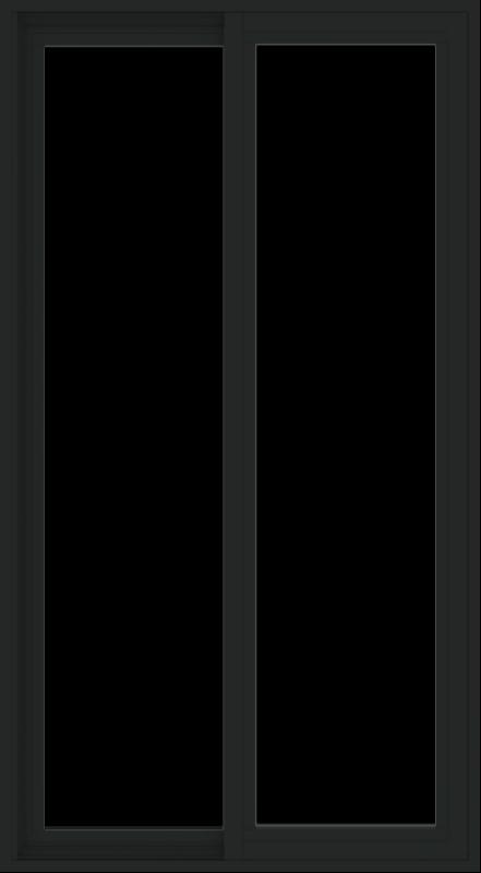 WDMA 30x54 (29.5 x 53.5 inch) Vinyl uPVC Black Slide Window without Grids Exterior