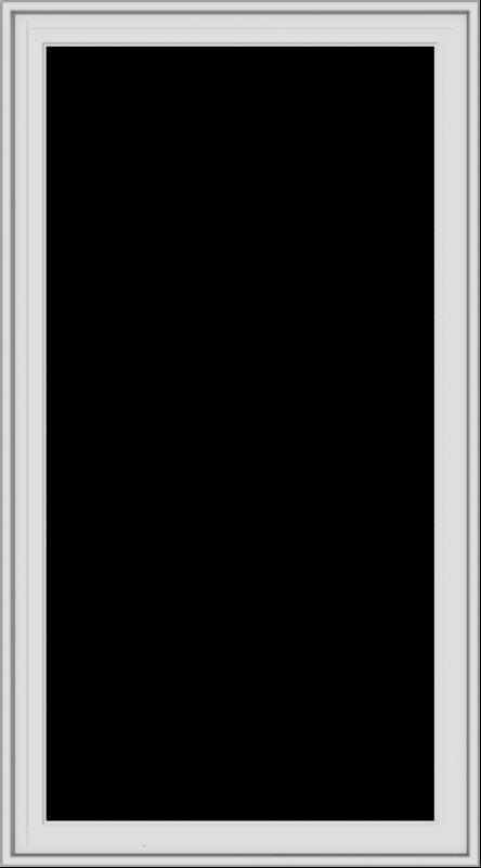 WDMA 30x54 (29.5 x 53.5 inch) White Vinyl uPVC Crank out Casement Window without Grids Exterior