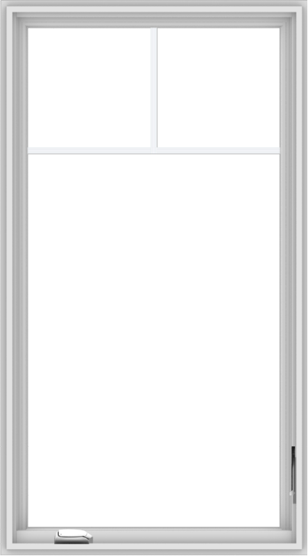 WDMA 30x54 (29.5 x 53.5 inch) White Vinyl uPVC Crank out Casement Window with Fractional Grilles