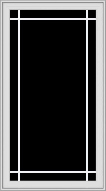 WDMA 30x54 (29.5 x 53.5 inch) White Vinyl uPVC Crank out Casement Window with Prairie Grilles