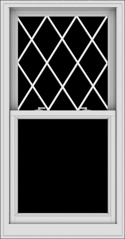 WDMA 30x57 (29.5 x 56.5 inch)  Aluminum Single Double Hung Window with Diamond Grids