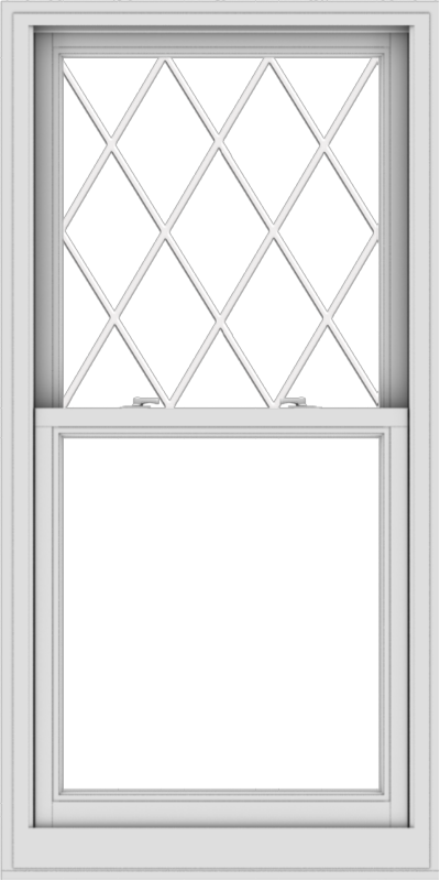 WDMA 30x60 (29.5 x 59.5 inch)  Aluminum Single Double Hung Window with Diamond Grids