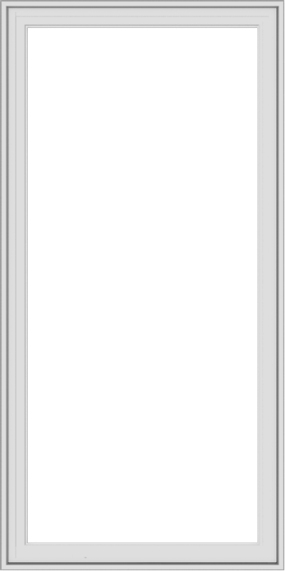 WDMA 30x60 (29.5 x 59.5 inch) White Vinyl uPVC Crank out Casement Window without Grids Exterior