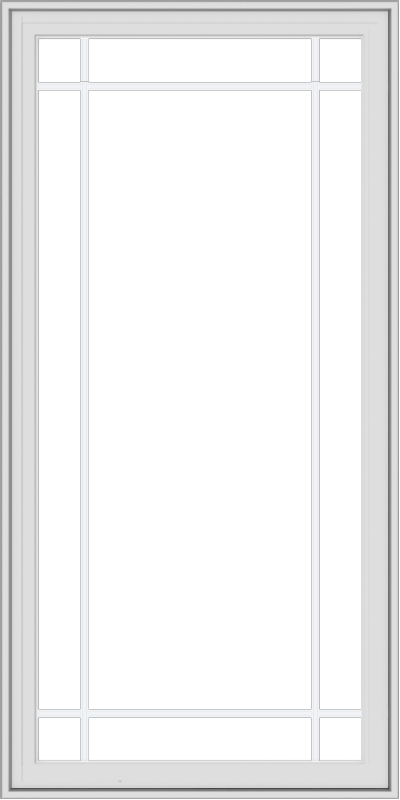 WDMA 30x60 (29.5 x 59.5 inch) White Vinyl uPVC Crank out Casement Window with Prairie Grilles