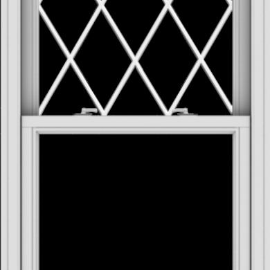WDMA 30x61 (29.5 x 60.5 inch)  Aluminum Single Double Hung Window with Diamond Grids