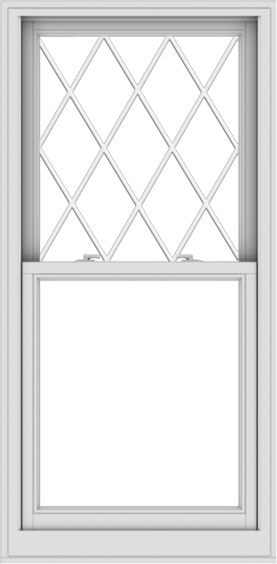 WDMA 30x61 (29.5 x 60.5 inch)  Aluminum Single Double Hung Window with Diamond Grids