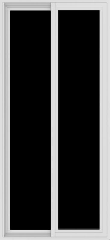 WDMA 30x65 (29.5 x 64.5 inch) Vinyl uPVC White Slide Window without Grids Exterior