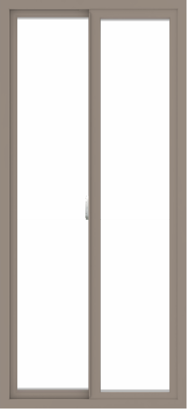 WDMA 30x65 (29.5 x 64.5 inch) Vinyl uPVC Brown Slide Window without Grids Interior