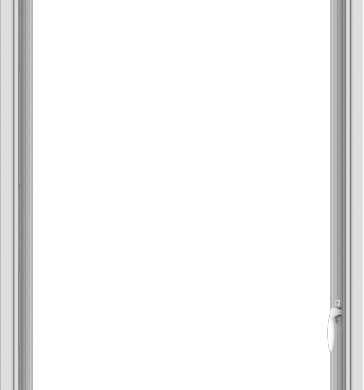 WDMA 30x66 (29.5 x 65.5 inch) White Vinyl uPVC Push out Casement Window without Grids Interior