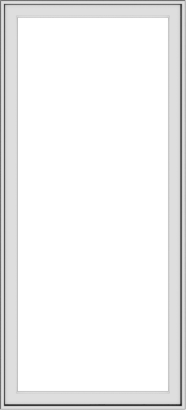 WDMA 30x66 (29.5 x 65.5 inch) White Vinyl uPVC Push out Casement Window without Grids Exterior