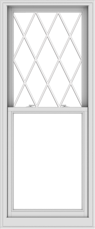 WDMA 30x72 (29.5 x 71.5 inch)  Aluminum Single Double Hung Window with Diamond Grids