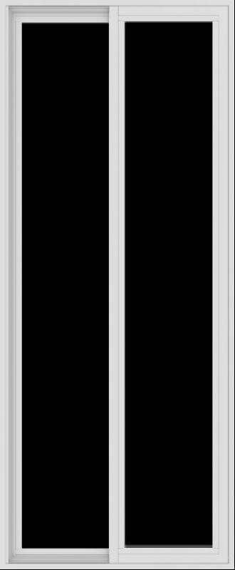 WDMA 30x72 (29.5 x 71.5 inch) Vinyl uPVC White Slide Window without Grids Exterior