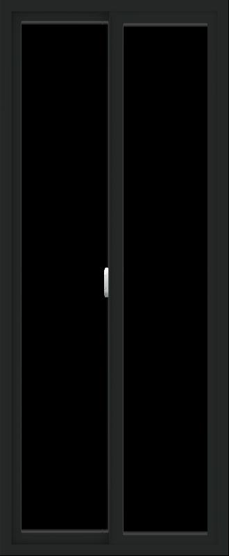 WDMA 30x72 (29.5 x 71.5 inch) Vinyl uPVC Black Slide Window without Grids Interior