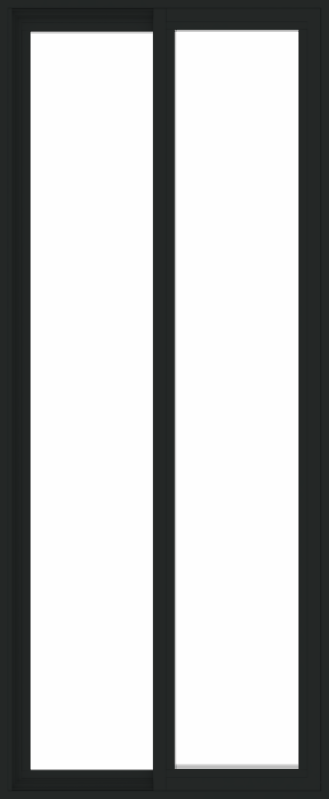 WDMA 30x72 (29.5 x 71.5 inch) Vinyl uPVC Black Slide Window without Grids Exterior