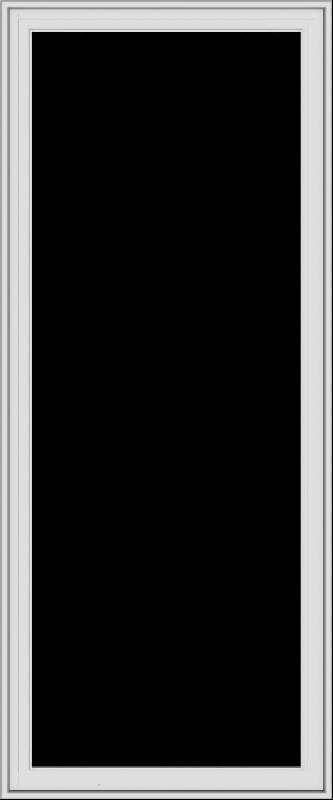 WDMA 30x72 (29.5 x 71.5 inch) White Vinyl uPVC Crank out Casement Window without Grids Exterior