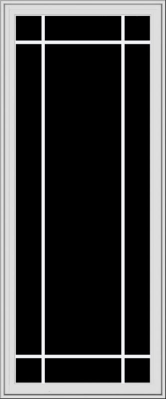 WDMA 30x72 (29.5 x 71.5 inch) White Vinyl uPVC Crank out Casement Window with Prairie Grilles