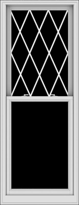 WDMA 30x78 (29.5 x 77.5 inch)  Aluminum Single Double Hung Window with Diamond Grids