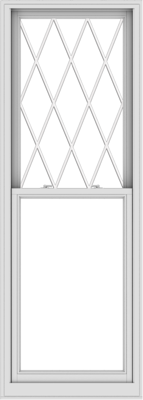 WDMA 30x84 (29.5 x 83.5 inch)  Aluminum Single Double Hung Window with Diamond Grids