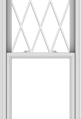 WDMA 30x90 (29.5 x 89.5 inch)  Aluminum Single Double Hung Window with Diamond Grids