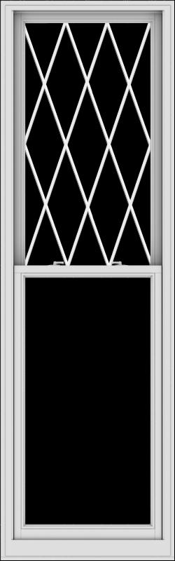 WDMA 30x96 (29.5 x 95.5 inch)  Aluminum Single Double Hung Window with Diamond Grids