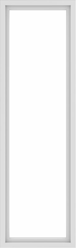WDMA 30x96 (29.5 x 95.5 inch) Vinyl uPVC White Picture Window without Grids-1