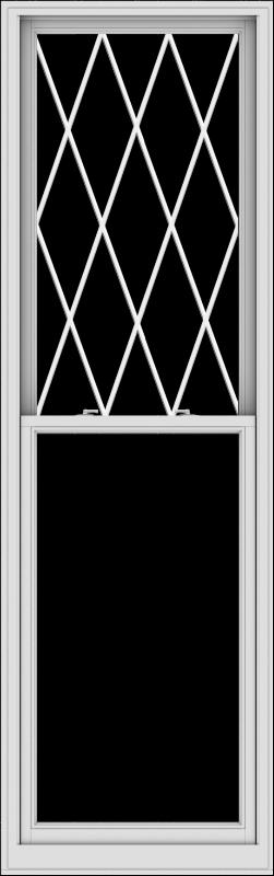 WDMA 32x102 (31.5 x 101.5 inch)  Aluminum Single Double Hung Window with Diamond Grids