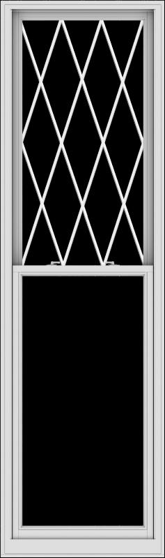WDMA 32x108 (31.5 x 107.5 inch)  Aluminum Single Double Hung Window with Diamond Grids