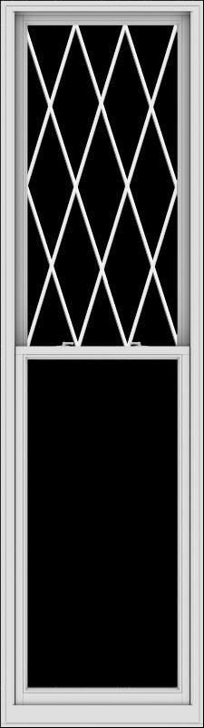 WDMA 32x114 (31.5 x 113.5 inch)  Aluminum Single Double Hung Window with Diamond Grids