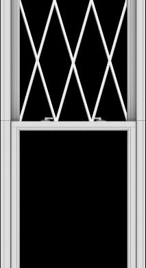 WDMA 32x120 (31.5 x 119.5 inch)  Aluminum Single Double Hung Window with Diamond Grids