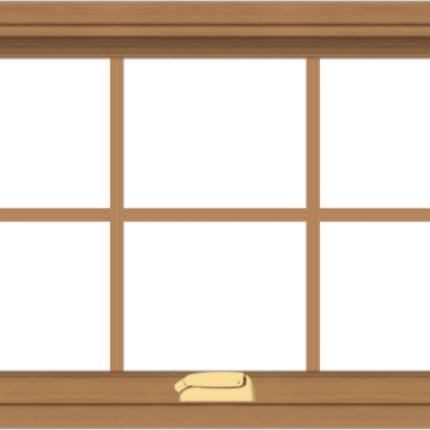 WDMA 32x20 (31.5 x 19.5 inch) Oak Wood Dark Brown Bronze Aluminum Crank out Awning Window with Colonial Grids Interior