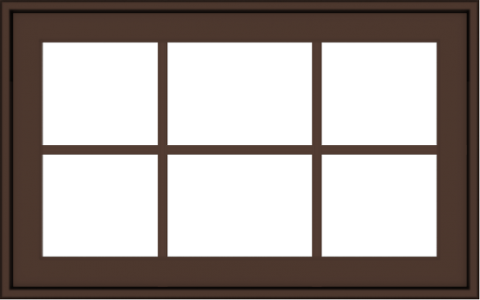 WDMA 32x20 (31.5 x 19.5 inch) Oak Wood Dark Brown Bronze Aluminum Crank out Awning Window with Colonial Grids Exterior