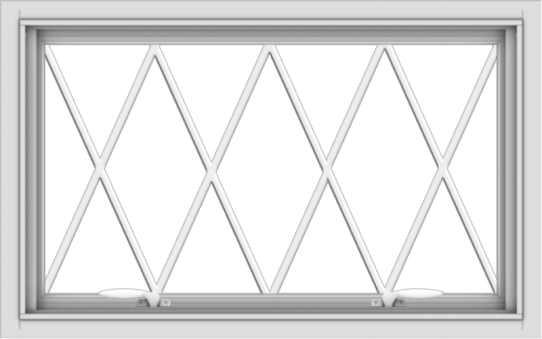 WDMA 32x20 (31.5 x 19.5 inch) White uPVC Vinyl Push out Awning Window without Grids with Diamond Grills