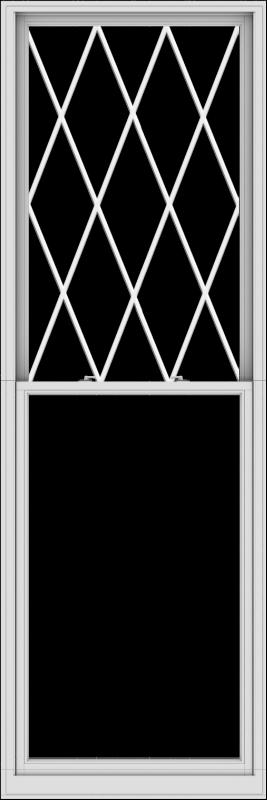 WDMA 40x120 (39.5 x 119.5 inch)  Aluminum Single Double Hung Window with Diamond Grids