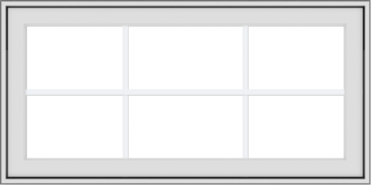 WDMA 40x20 (39.5 x 19.5 inch) White Vinyl uPVC Crank out Awning Window with Colonial Grids Exterior