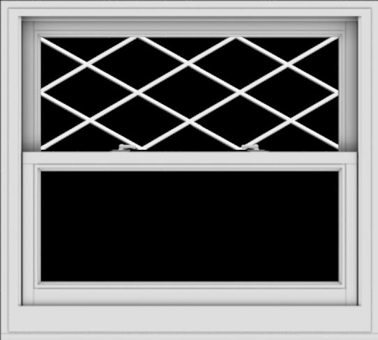 WDMA 40x36 (39.5 x 35.5 inch)  Aluminum Single Double Hung Window with Diamond Grids