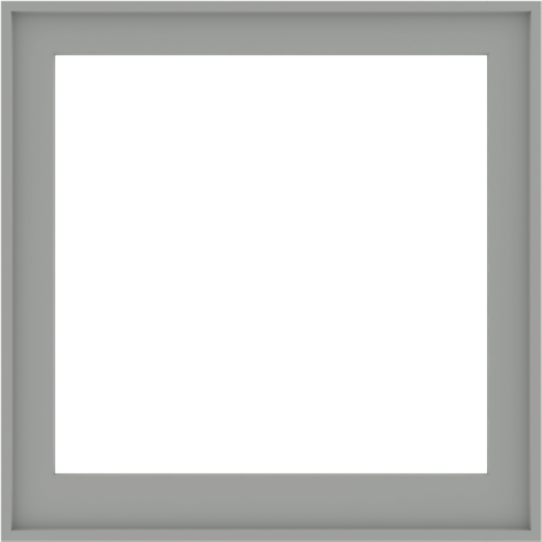 WDMA 40x40 (39.5 x 39.5 inch) Composite Wood Aluminum-Clad Picture Window without Grids-5