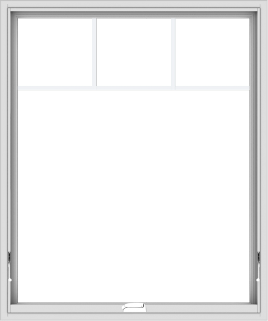 WDMA 40x48 (39.5 x 47.5 inch) White Vinyl uPVC Crank out Awning Window with Fractional Grilles