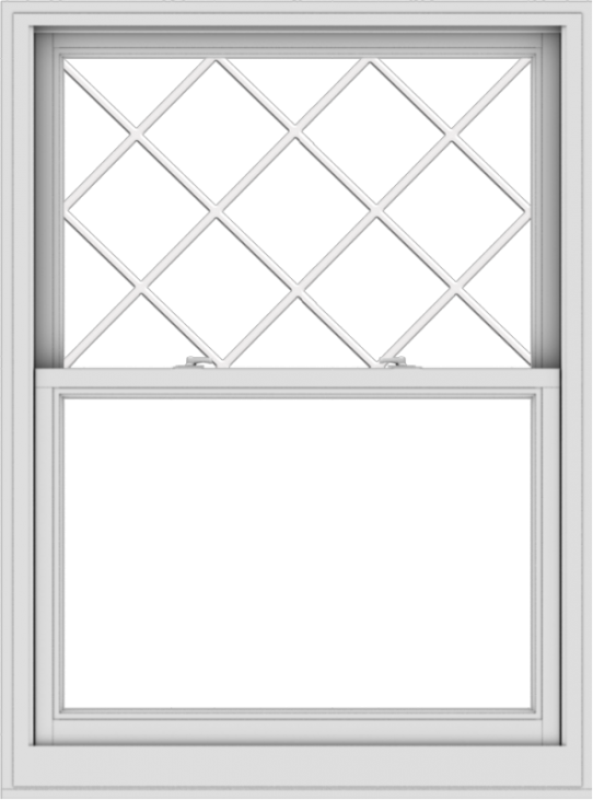 WDMA 40x54 (39.5 x 53.5 inch)  Aluminum Single Double Hung Window with Diamond Grids