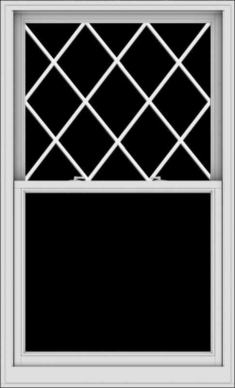 WDMA 40x66 (39.5 x 65.5 inch)  Aluminum Single Double Hung Window with Diamond Grids