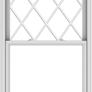 WDMA 40x72 (39.5 x 71.5 inch)  Aluminum Single Double Hung Window with Diamond Grids