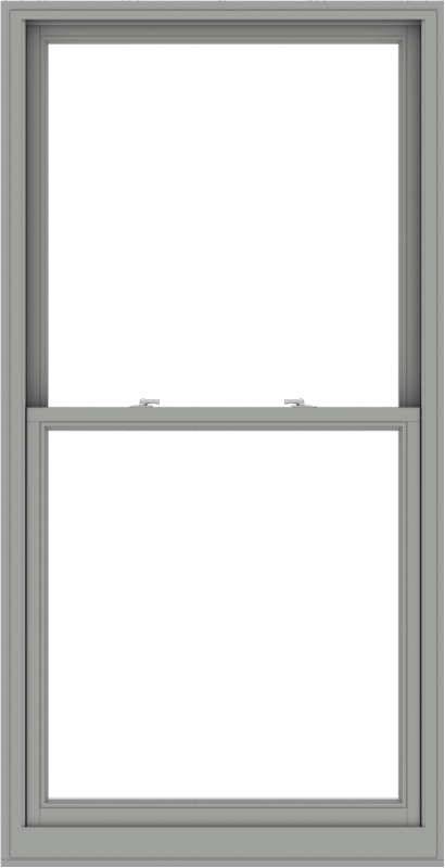 WDMA 40x78 (39.5 x 77.5 inch)  Aluminum Single Double Hung Window without Grids-1